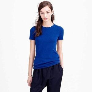 3/$30 J. Crew Cream Italian Cashmere T-Shirt XS